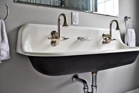 bathroom renovations - double sink