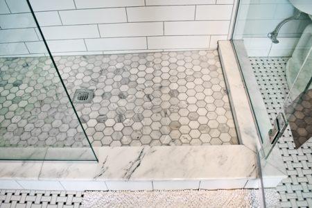 bathroom renovations - intricate flooring
